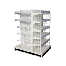 Metallic Fashion Modern Advertising Display Supermarket Shelf