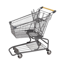 80L American Gray Supermarket Shopping Cart Manufacturer
