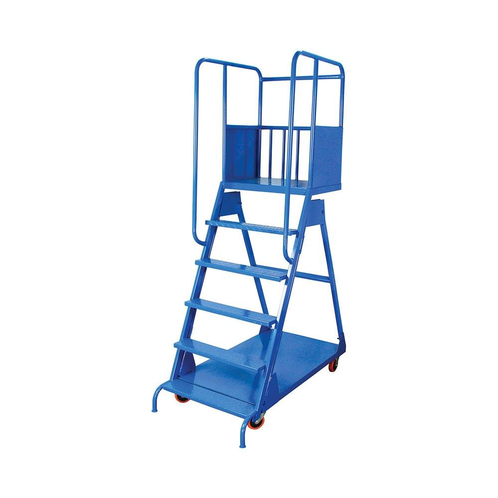 Industrial heavy duty flat aluminum platform cart with rubber deck