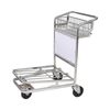 Two Layers Hand Pull Luggage Load Airport Service Trolley