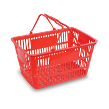 28L-32L Plastic Supermarket Shopping Basket for Storage