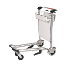 Rubber Wheels Airport Moving Luggage Cart with Brake