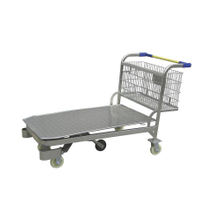 Heavy Duty 5 Wheels Metallic Warehouse Transport Trolley