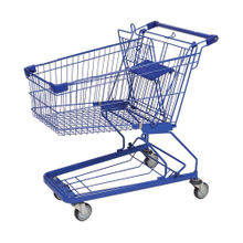 Large Capacity Wire Supermarket Shopping Push Cart