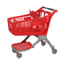 130L Large Dimensions Push Plastic Shopping Trolley