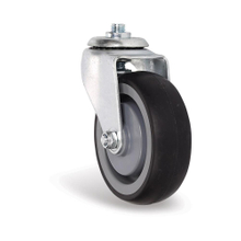 TPR single axle swivel wheels for shopping trolleys
