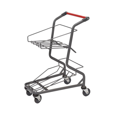 Hand Push 4 Wheel Basket Shopping Trolley with Printing Logo