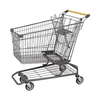 100L Trade Assurance American Type Metal Supermarket Shopping Cart