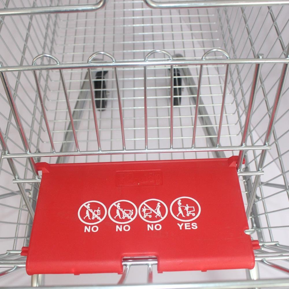 240 European Large Capacity Shopping Carts in Supermarket