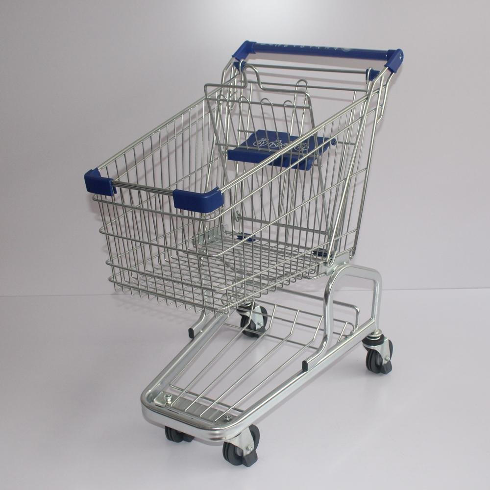60L Durable German Type Small 4 Wheels Shopping Trolley