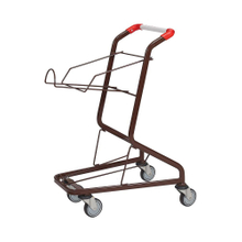 80L Safety Double Baskets Two Layer Metal Steel Shopping Trolley