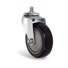 PU single axle swivel caster for shopping cart