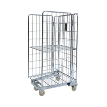 Storage Galvanized Nesting Folding Wire Mesh Roll Containers