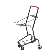 Supermarket 3 Tiers Basket Shopping Cart Trolley with 4 Wheels