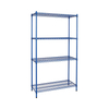 Heavy Duty Storage Shelf Adjustable Wire Shelving Coated Black